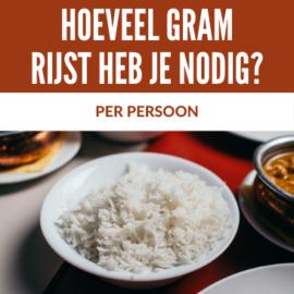 hoeveel rijst per persoon