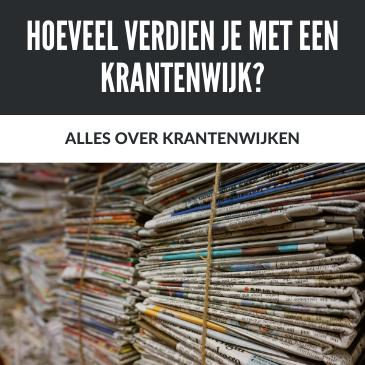 Hoeveel verdien je met een krantenwijk?
