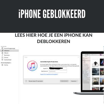 iPhone geblokkeerd verbind met iTunes: in 2 minuten hersteld