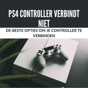 Ps4 controller verbinden werkt niet